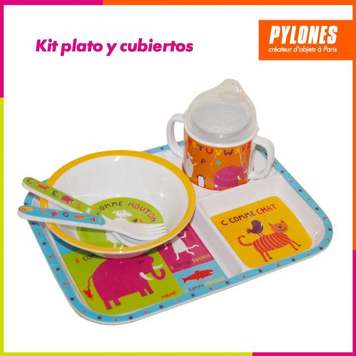 Kit de vaso y plato para niños #DíaDelNiño #FelizDíadelNiño @pylonesco