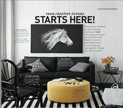 Colour & Design - Real Living.  iscd graduate Laura Lefevre styling tips featured in Real Living