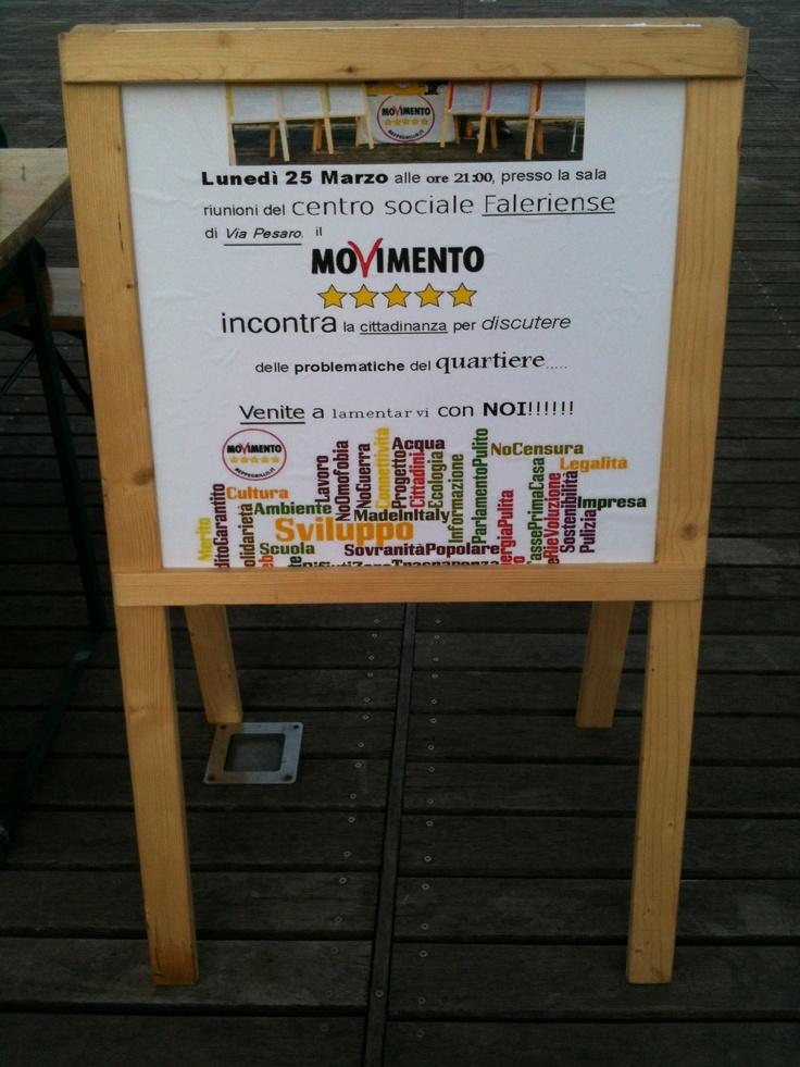 Banchetto informativo Quartiere Faleriense. Venite a trovarci!!!!