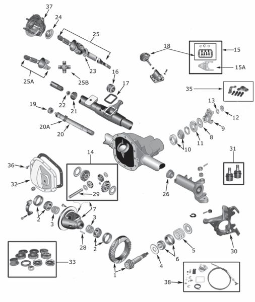 Dana 30 Front Disconnect & Non Disconnect Axle Parts and Accessories 1984-2006. We offer a large selection of Jeep Front Axle parts, including Bearing Cones, Bearing Cups, Gaskets, Seals, Axle Shafts, Locking Hubs, Spider Gears.