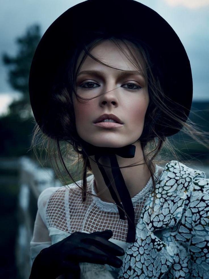 soft white (smoke) desert eyes  Mina Cvetkovic by Nathaniel Goldberg for Vogue Russia March 2015
