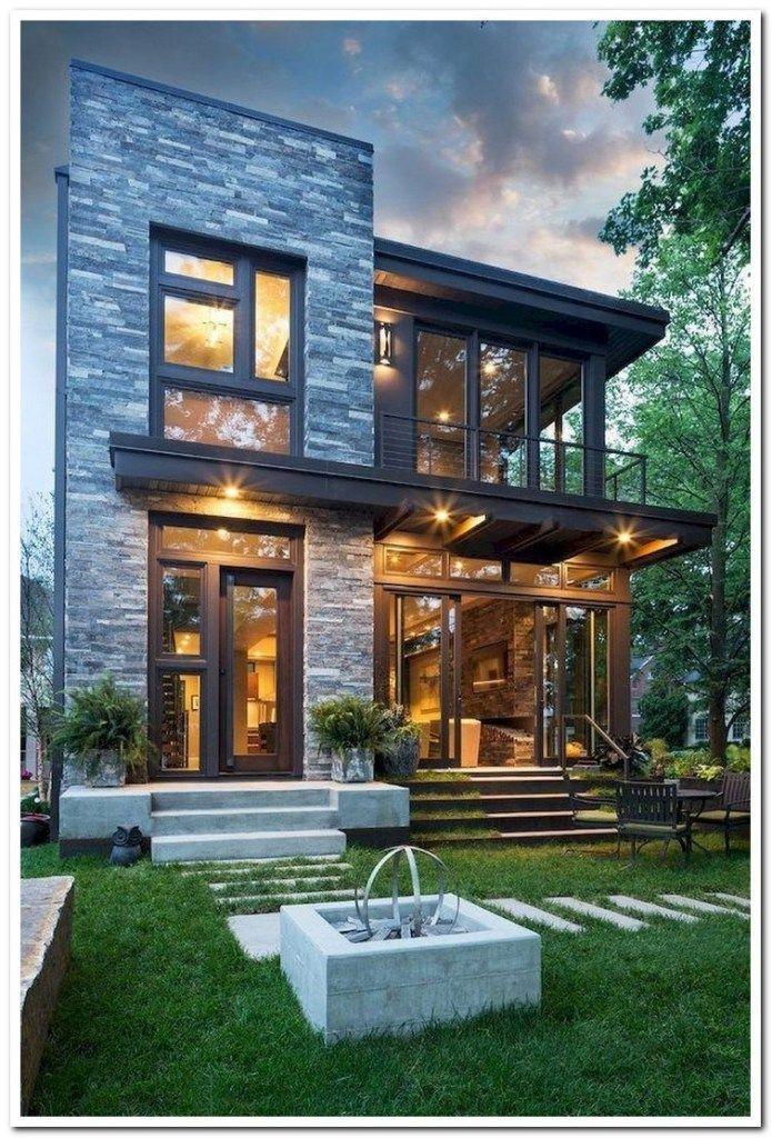 42 Stunning Exterior Home Designs: 42 Stunning Modern Dream House Exterior Design Ideas 39 In