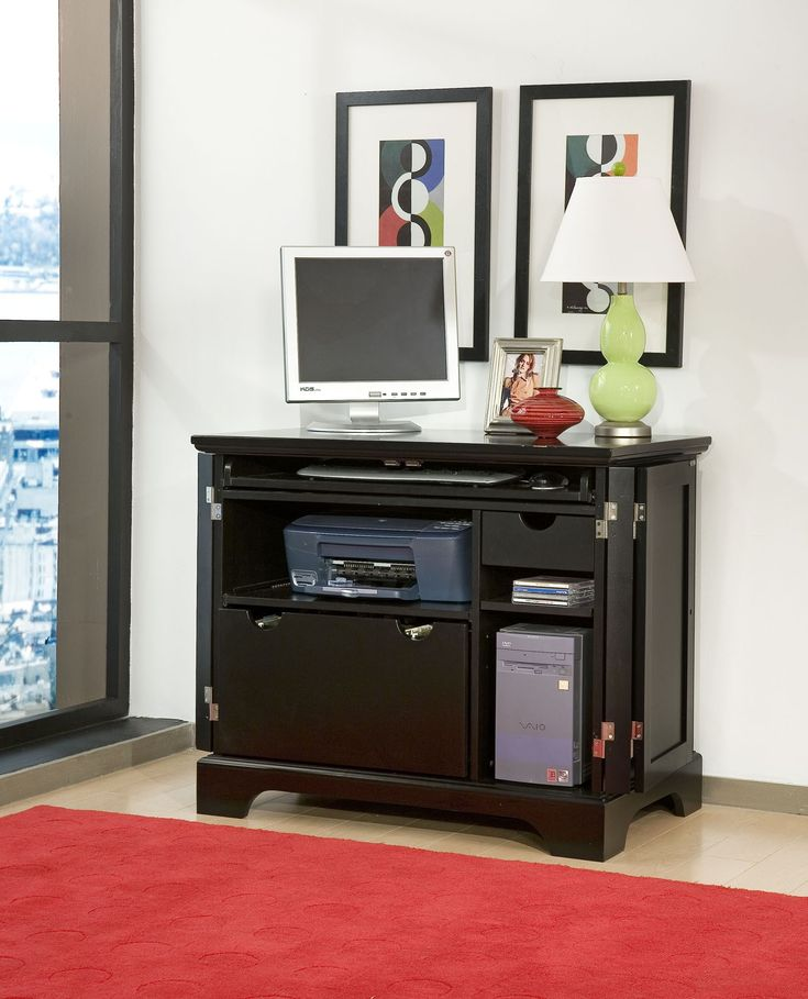 Small Computer Desk with Printer Shelf - Design Desk Ideas Check more at http://www.gameintown.com/small-computer-desk-with-printer-shelf/