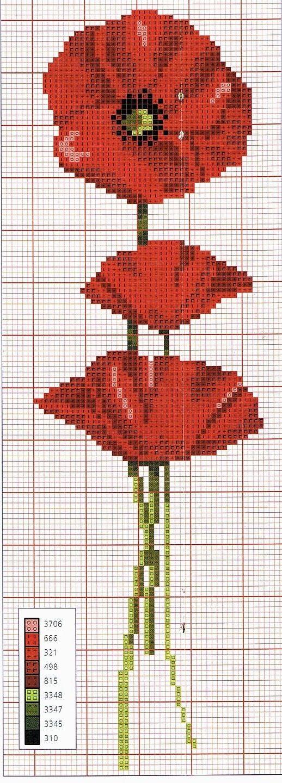 papaveri+-schema+a+punto+croce.jpg (518×1440)