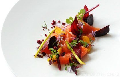Salmon Mi Cuit Recipe With Beetroots - Great British Chefs. Luke Holder's cured salmon
