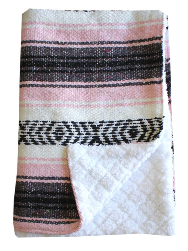 Baja Baby™ Mexican Baby Blanket -Classic Pink