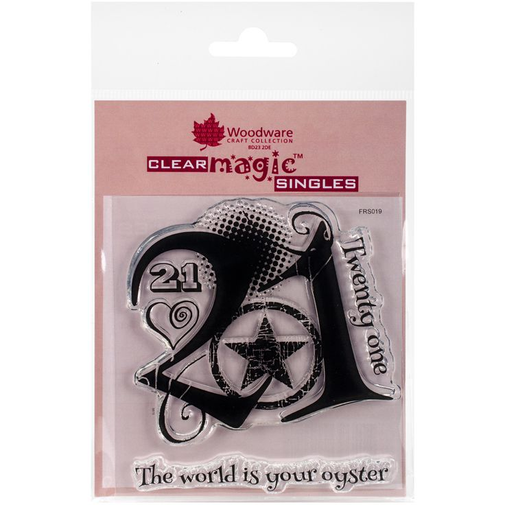 """Woodware Clear Stamps 3.5""""""""X3.5""""""""-Turned 21"""