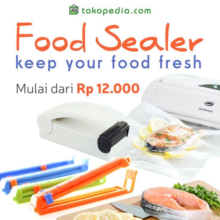 Mau makanan kamu tetap terjaga kesegaran dan bebas kuman meski disimpan berhari-hari? Gunakan Food Sealer dong Toppers! Beli sekarang juga, harga mulai dari Rp 12.000. Klik http://www.tokopedia.com/p/dapur/penyimpanan-makanan/sealer