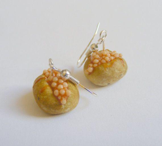 Food Jewelry Jacket Potato and Beans Miniature Food by NeatEats