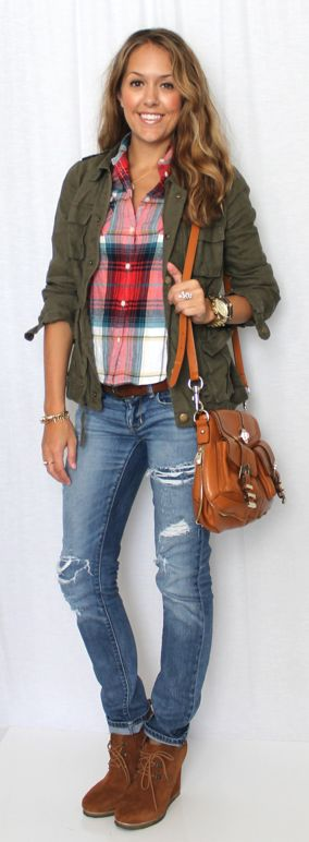 10 Ways to Wear a Military Jacket.. And this jacket is cute, not too manly like some