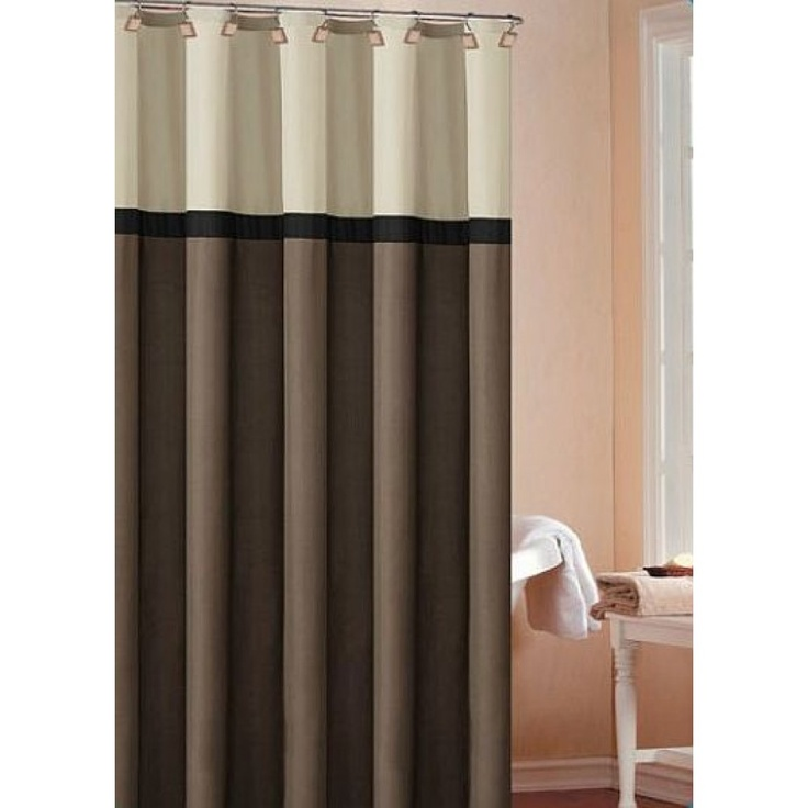 Dr International Cosmopolitan Shower Curtain Color Chocolate Beige Black C3sco 12 9603 Wall