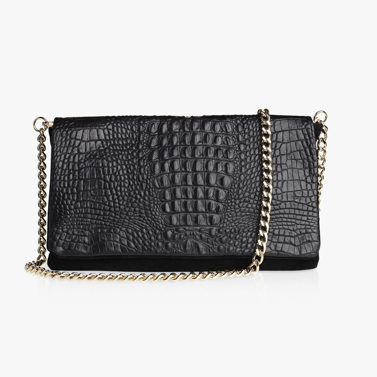 EMILY - BLACK CROC/SUEDE with a Sophia chai. Get yours at everiecph.com