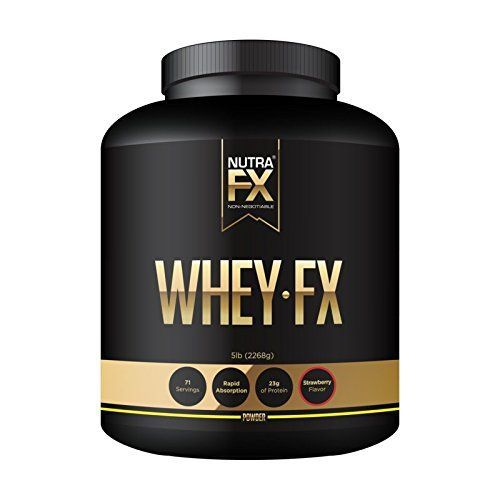 NUTRAFX Pure Whey Protein Powder Rich Delicious Strawberry Flavor Easy to Mix No Clumps 23 Grams Protein Per Serving 130 Low-Fat Calories (5lb Bottle) >>> Details can be found by clicking on the image.
