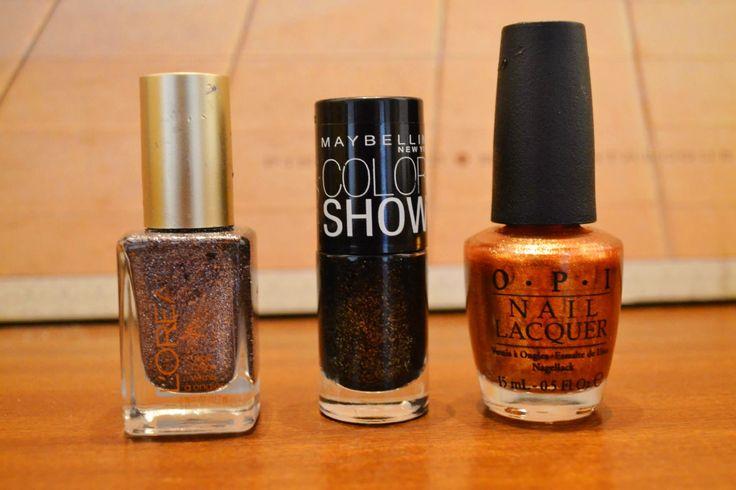 #loreal #opi #maybelline Nail polish for X-mas :)