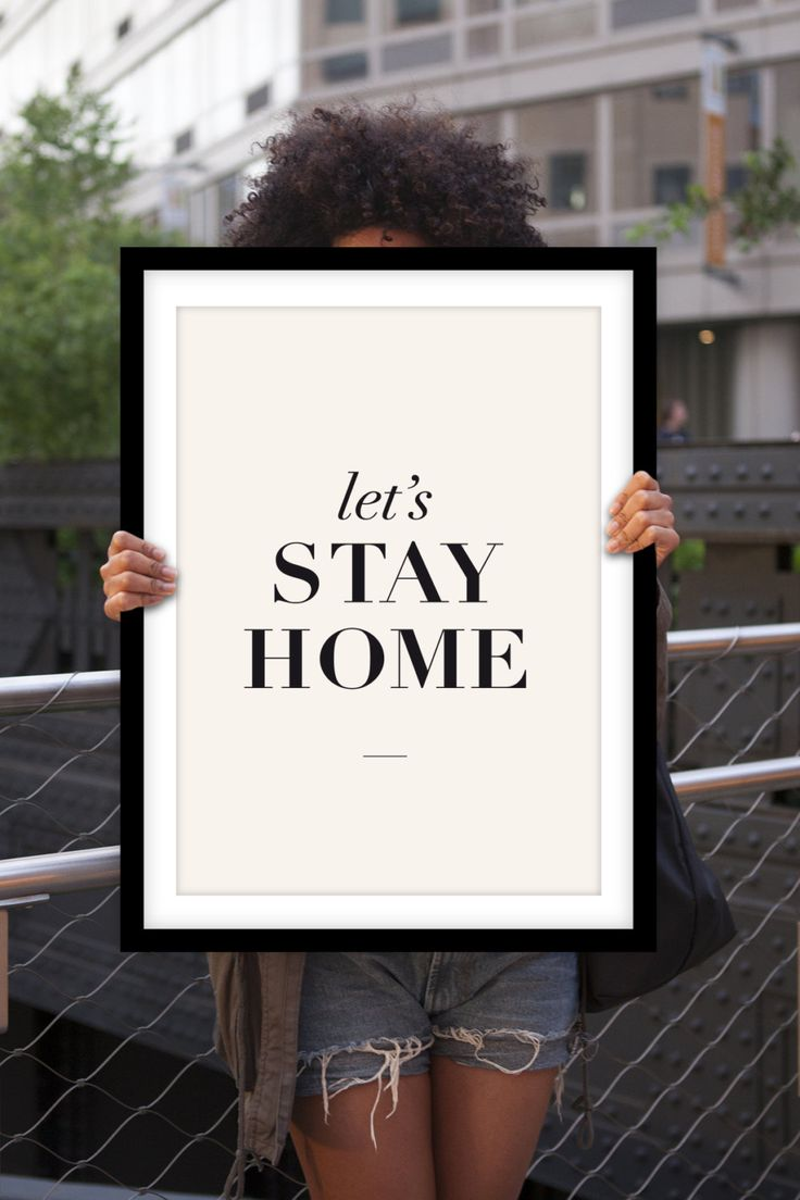 Let's Stay Home Typography Print Poster Art by TheMotivatedType, $12.00