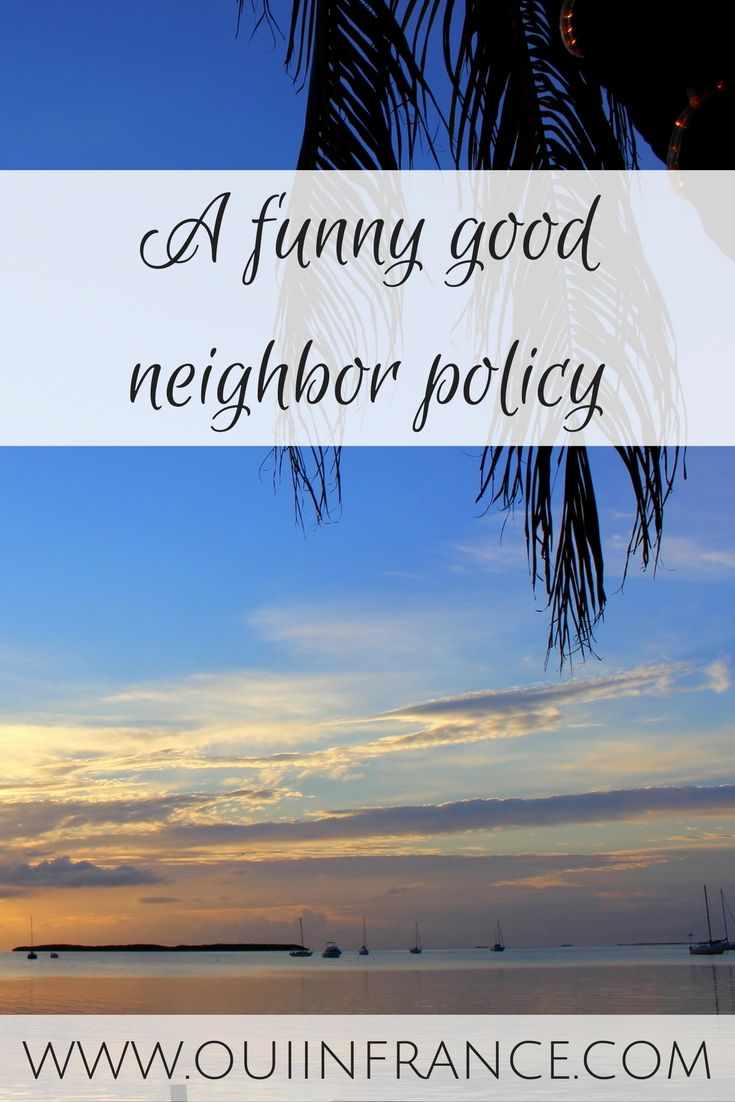 A funny good neighbor policy. Do people need to be told how to act socially?