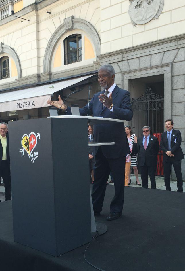 Kofi Annan à Lugano