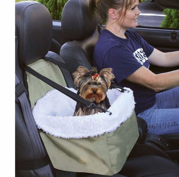 car seat for dog pet cat booster blanket sheepskin lining chair zippered front