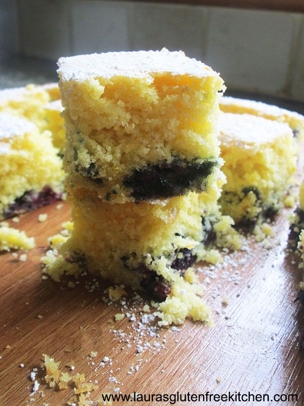 Gluten Free Blueberry and Orange Madeira Squares --- This Blueberry and Orange Madeira Cake is AMAZING! It melts in your mouth as it is so moist and is full of refreshing Orange flavor.