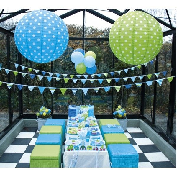 Coordinati per festa di compleanno blu
