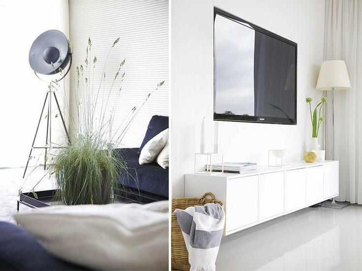 Innbygget tv med benk