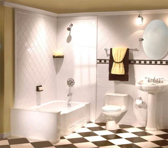 Love The Clean Lines With The Black White Floor The Bathroom Pinterest Black The O 39 Jays