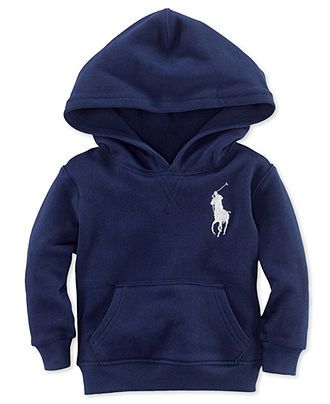 Ralph Lauren Baby Hoodie, Baby Boys Atlantic Big Pony Terry Hooded Pullover - Kids - Macy's
