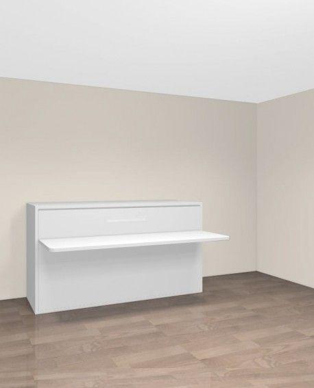 TEO - Armoire lit escamotable horizontale 90 x 190 avec bureau
