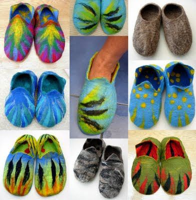 FELTING matters... : Felt Slippers with a resist