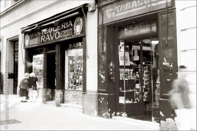 27 Tiendas de Madrid bw by marcello manca, via Flickr