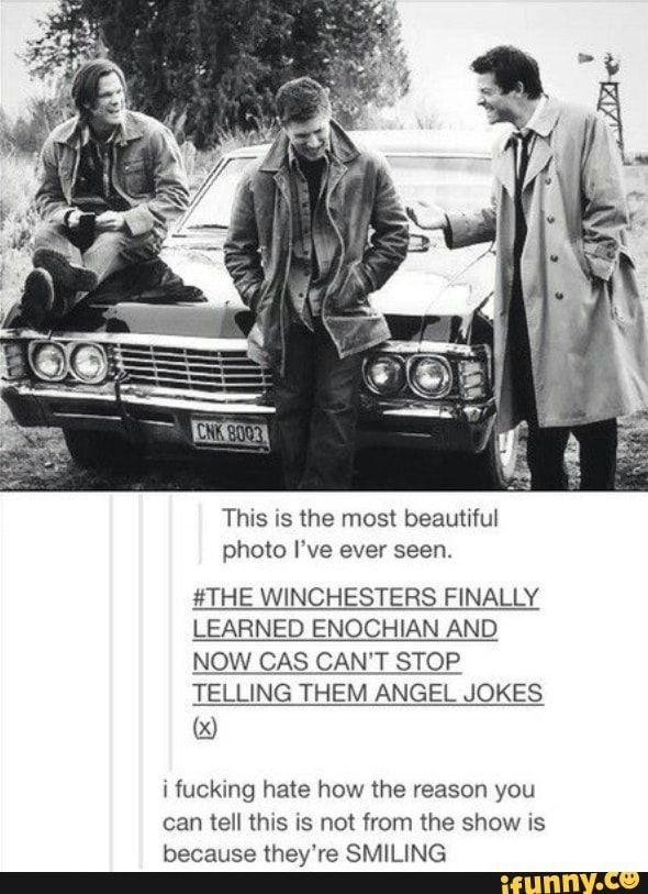 Ok but imagining cas smiling and laughing warms my heart