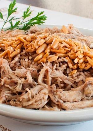 Arroz marroquino com frango e carne moida