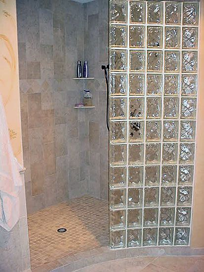 76 best images about Bathrooms with Glass Block on Pinterest