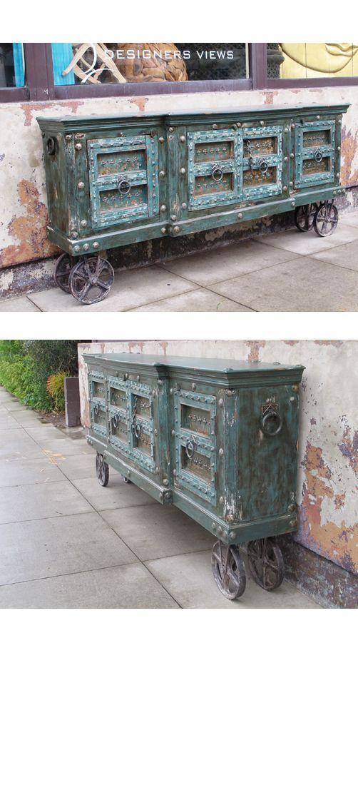 Custom Sideboard on Wheels