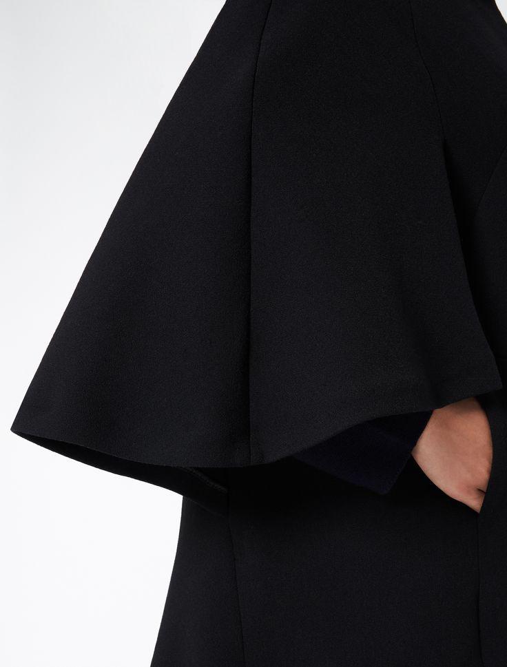 """Giaccone a mantella in doppio di lana, nero - """"OVIDIO"""" Marina Rinaldi"""