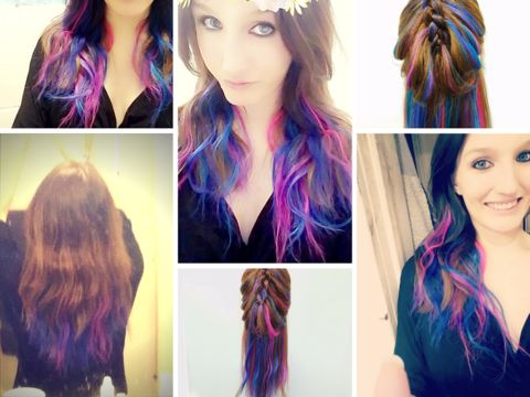peacock hair color extensions, add instant color and length to your hairstyle