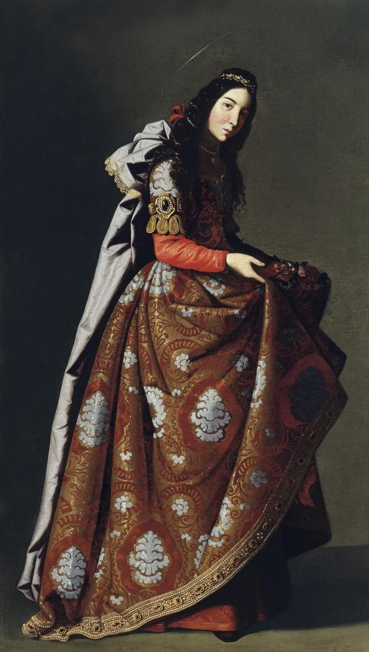 Santa Casilda by Francisco de Zurbarán (Spanish, 1598-1664). Museo Thyssen-Bornemisza, Madrid