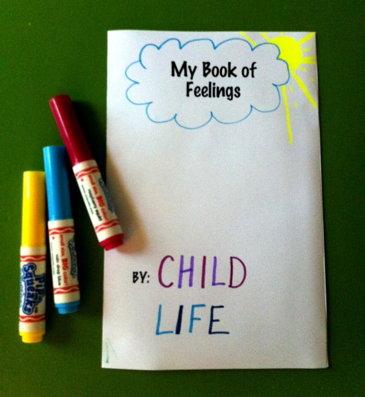 A Simple Book For Children To Draw Or Write About Different Feelings Great Working