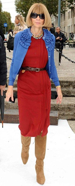 The High Queen of fashion herself, Anna Wintour.