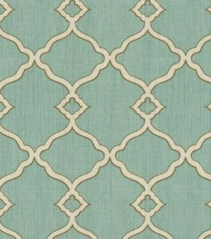 Waverly Print Fabric-Sns Chippendale Fretwork Mineral