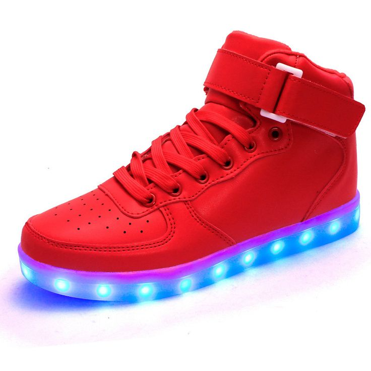 Unisex lights up led luminous shoes high top glowing casual shoes with new simulation sole charge - Just-Trendy.com - 2