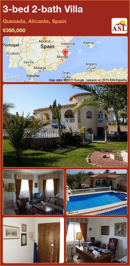 3-bed 2-bath Villa in Quesada, Alicante, Spain ►€395,000 #PropertyForSaleInSpain
