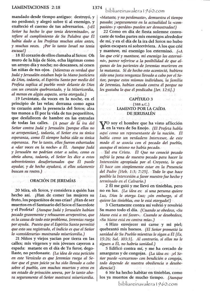 lamentaciones 3 explicacion capitulo completo y con cada