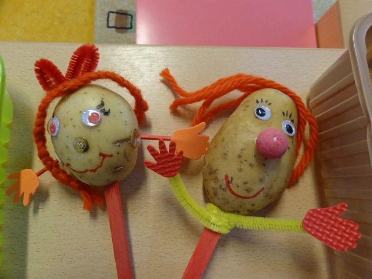 Versier je aardappels en maak er vrolijke poppetjes van.