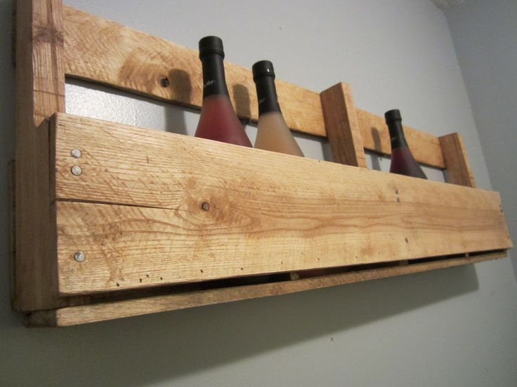 Pallet Wine Rack, Wine Rack Wall Mounted, Reclaimed Wood Wine Rack, Wine Holder, Wine Kitchen Decor, Pallet Shelf, Wall Mounted Wine Rack by DaceysDecor on Etsy