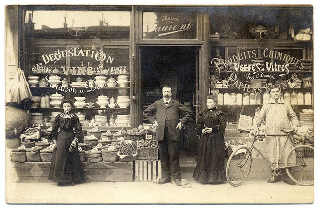 For All Your Grocery and Hardware Needs: Maison Laurent! (1905) by postaletrice, via FlickrVintage Marketing, Stores Front, Vintage Paris, Web Design, French Shops, Vintage Pictures, Paris France, Maison Laurent, Grocery Stores