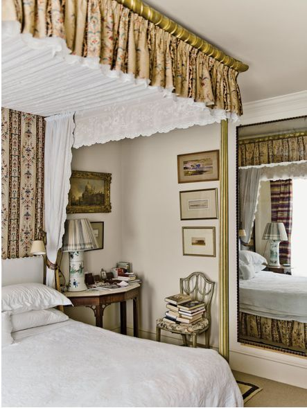 Faux Canopy Designer Robert Kime S London Bedroom Via T Magazine