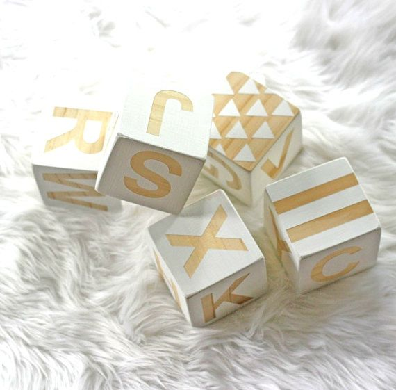 Alphabet Blocks / Large / Hand Painted / Wooden Blocks on Etsy, $40.00 AUD