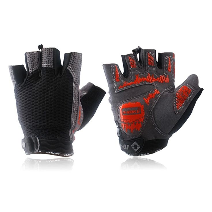 Weimostar GEL Cycling Bicycle Finger Half Gloves Mountain Bike Glove Pesas Gimnasio Guantes Deportivos Size M-XL