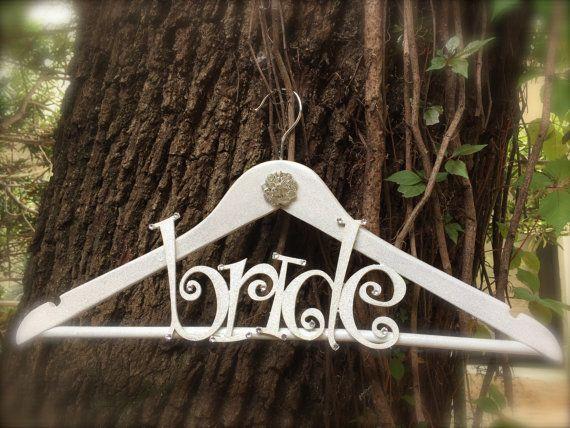 custom bridal hanger with brooch wedding dress by TheCrystalFlower